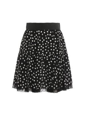 Dolce & Gabbana: mini skirts - Polka dot flared skirt