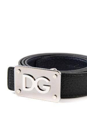 DOLCE & GABBANA: cinture online - Cintura reversibile nera e blu