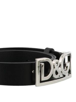 DOLCE & GABBANA: cinture online - Cintura D&G in pelle nera