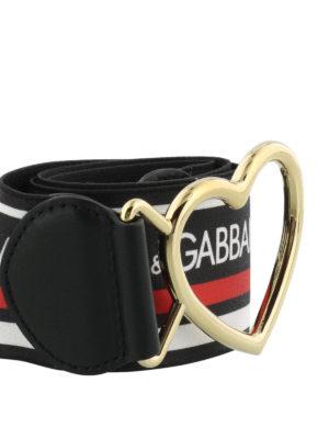 DOLCE & GABBANA: cinture online - Cintura elastica con fibbia a cuore