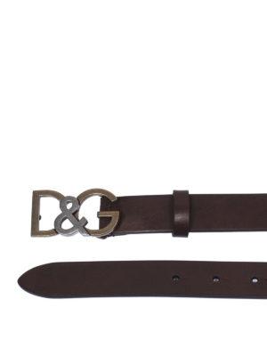DOLCE & GABBANA: cinture online - Cintura D&G in cuoio bottalato