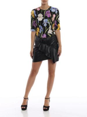 DOLCE & GABBANA: bluse online - Blusa in seta stampata a motivo Iris
