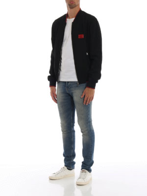 DOLCE & GABBANA: giacche bomber online - Bomber in cady con placchetta logo