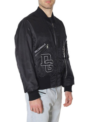 DOLCE & GABBANA: giacche bomber online - Bomber double in nylon con patch