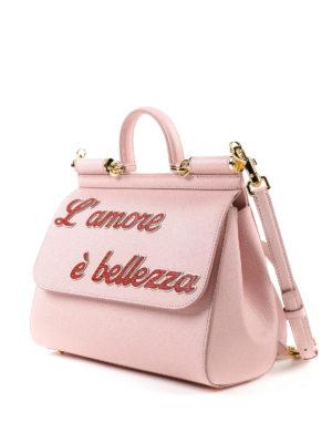 DOLCE & GABBANA: bauletti online - Sicily M rosa L'amore è bellezza