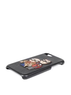 DOLCE & GABBANA: custodie e cover online - Cover per iPhone 7 in pelle