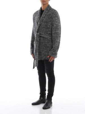 DOLCE & GABBANA: giacche casual online - Giacca lunga stile vestaglia in lana e alpaca