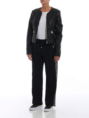 DOLCE & GABBANA: pantaloni casual online - Pantaloni in cady con bande logo