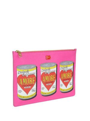 DOLCE & GABBANA: pochette online - Clutch con stampa barattoli Amore