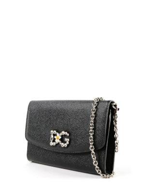 DOLCE & GABBANA: pochette online - Clutch portafoglio logo gioiello