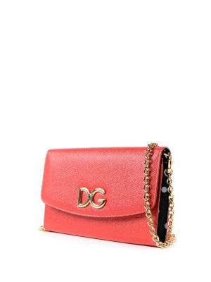 DOLCE & GABBANA: pochette online - Clutch portafoglio in pelle rossa