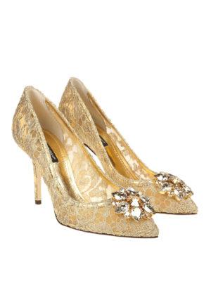 DOLCE & GABBANA: scarpe décolleté online - Décolleté Bellucci gioiello in pizzo Taormina