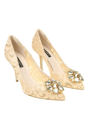 DOLCE & GABBANA: scarpe décolleté online - Décolleté gioiello Bellucci in pizzo Taormina