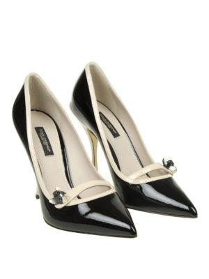 DOLCE & GABBANA: scarpe décolleté online - Décolleté Lori in vernice profili a contrasto
