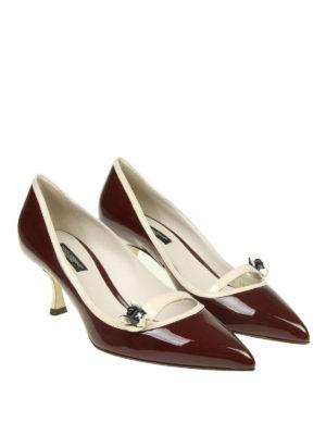 DOLCE & GABBANA: scarpe décolleté online - Décolleté Lori in vernice con patch cane
