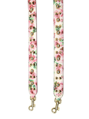 DOLCE & GABBANA: borse a tracolla online - Tracolla in pelle stampa rose