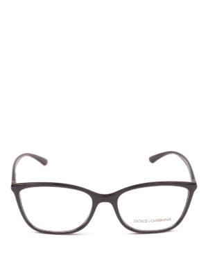 DOLCE & GABBANA: Occhiali online - Occhiali da vista rettangolari neri