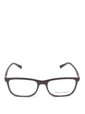 DOLCE & GABBANA: Occhiali online - Occhiali da vista rettangolari acetato nero