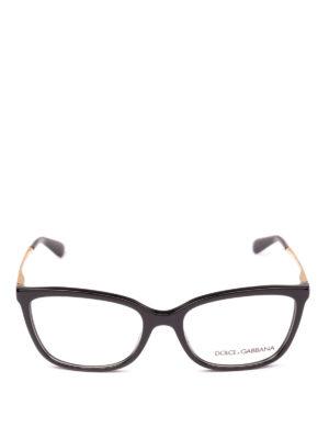 DOLCE & GABBANA: Occhiali online - Occhiali da vista neri con aste oro