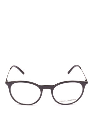 DOLCE & GABBANA: Occhiali online - Occhiali da vista pantos in acetato nero