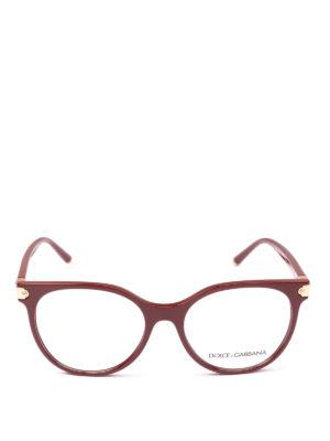 DOLCE & GABBANA: Occhiali online - Occhiali da vista a farfalla bordeaux