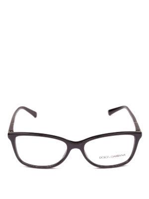 DOLCE & GABBANA: Occhiali online - Occhiali da vista neri con logo dorato
