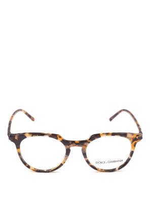 DOLCE & GABBANA: Occhiali online - Occhiali da vista in acetato avana