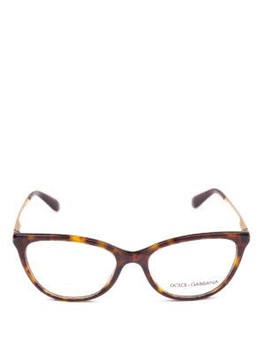 DOLCE & GABBANA: Occhiali online - Occhiali da vista a occhi di gatto avana