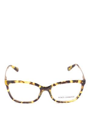 DOLCE & GABBANA: Occhiali online - Occhiali da vista avana con aste dorate