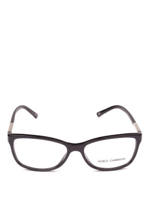 DOLCE & GABBANA: Occhiali online - Occhiali da vista neri con placca logo