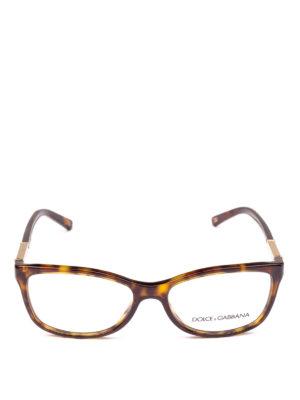DOLCE & GABBANA: Occhiali online - Occhiali da vista tartarugati con placca logo