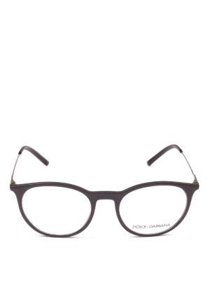 DOLCE & GABBANA: Occhiali online - Occhiale da vista pantos nero opaco