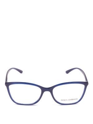 DOLCE & GABBANA: Occhiali online - Occhiali da vista rettangolari blu opale