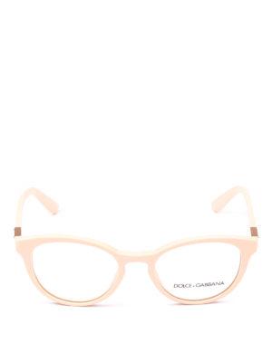 DOLCE & GABBANA: Occhiali online - Occhiali da vista pantos in acetato rosa