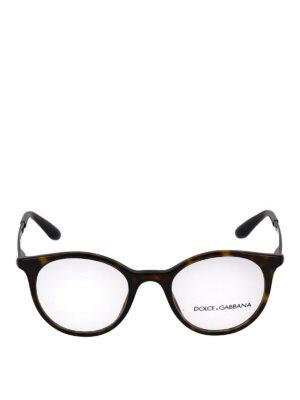 DOLCE & GABBANA: Occhiali online - Occhiali da vista tartarugati con aste incise