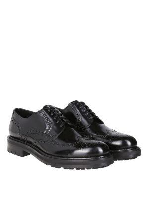 DOLCE & GABBANA: scarpe stringate online - Derby brogue in pelle di vitello spazzolato