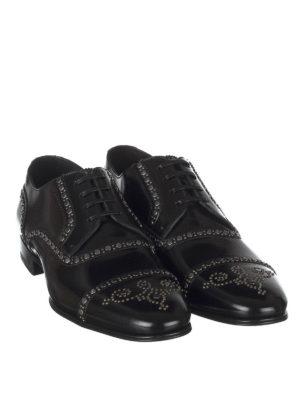DOLCE & GABBANA: scarpe stringate online - Stringate Derby con borchie