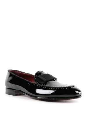 DOLCE & GABBANA: Mocassini e slippers online - Pantofola in vernice con borchiette