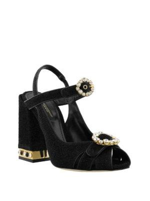 DOLCE & GABBANA: sandali online - Sandali gioiello Bette in lurex