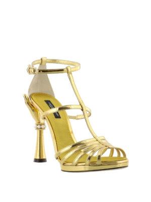 DOLCE & GABBANA: sandali online - Sandali a specchio tacco scultura