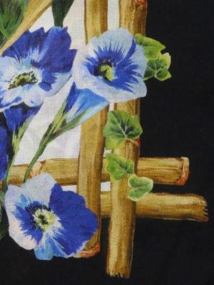 DOLCE & GABBANA: sciarpe e foulard online - Sciarpa in modal e seta floreale