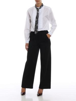 DOLCE & GABBANA: camicie online - Camicia in popeline con plastron e cravatta