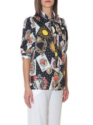 DOLCE & GABBANA: camicie online - Camicia in seta stretch stampata