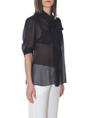 DOLCE & GABBANA: camicie online - Camicia in chiffon di misto seta