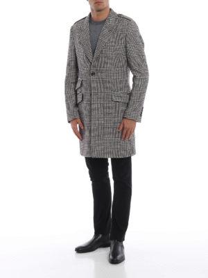 DOLCE & GABBANA: cappotti corti online - Cappottino in cotone e lana pied-de-poule