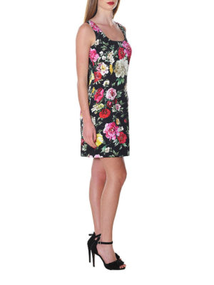 DOLCE & GABBANA: abiti corti online - Mini abito in broccato floreale