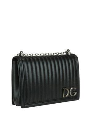 DOLCE & GABBANA: borse a spalla online - Borsa in nappa matelassé DG Girls