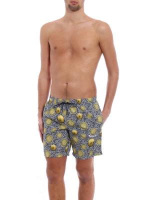 DOLCE & GABBANA: Costumi piscina e boxer online - Boxer da mare con stampa limoni