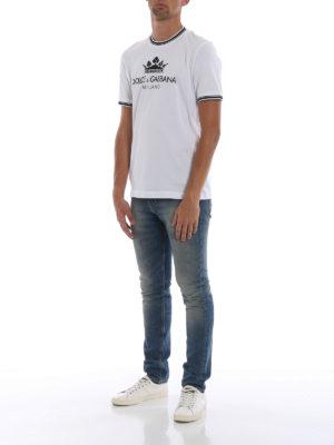 DOLCE & GABBANA: t-shirt online - T-shirt in cotone bianco #DGMILLENNIALS