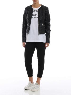 DOLCE & GABBANA: t-shirt online - T-shirt in jersey con stampa Fashion Sinner